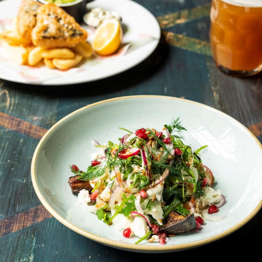 Aubergine Salad Cosy Club Cardiff