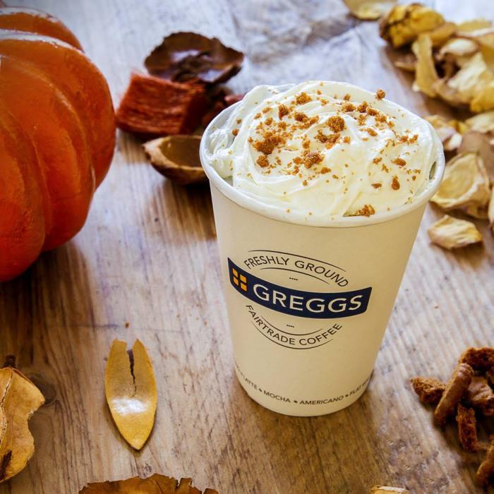 Greggs pumpkin spice latte