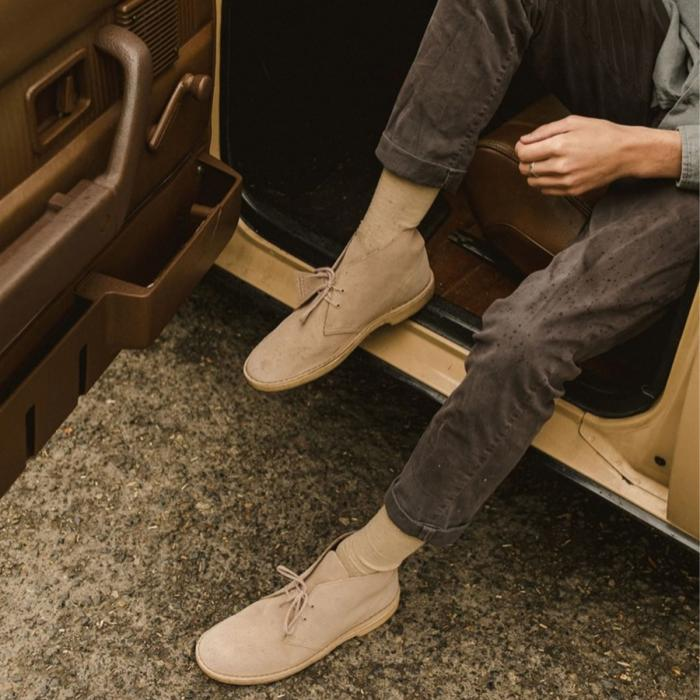 Step into the new season with Clark's iconic Desert Boot