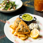 Cosy Club's vegan 'fish' and chips