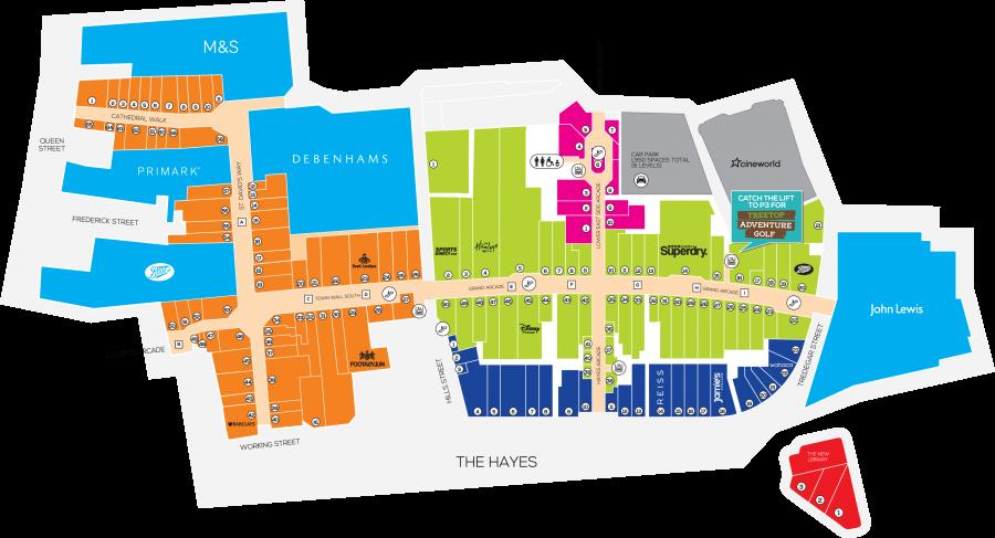 Centre Map St Davids Dewi Sant Shopping Centre