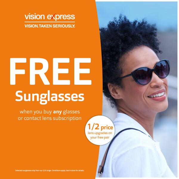 Vision Express free sunglasses