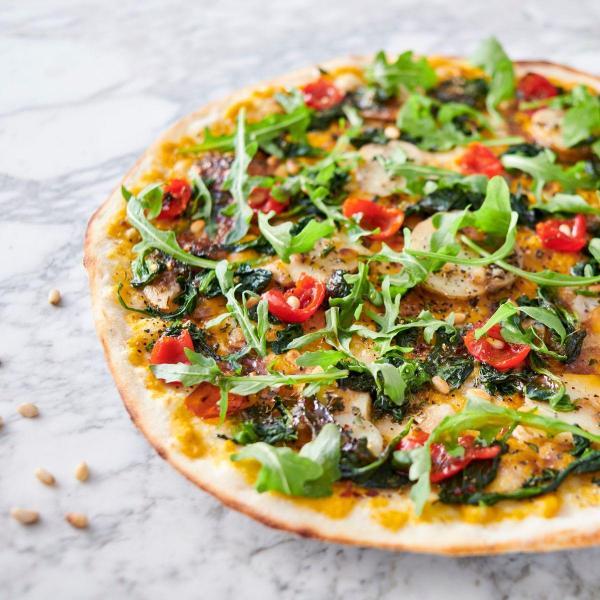Vegan pizza at Pizza Express