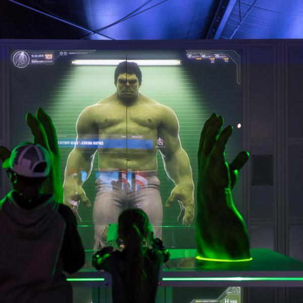 Hulk at Avengers S.T.A.T.I.O.N