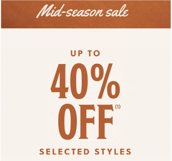 Up to 40% off on Fossil's mid-season sale